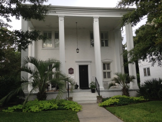 Inspired by Gone with the Wind's Tara, the previous owners raised the columns to be two stories high