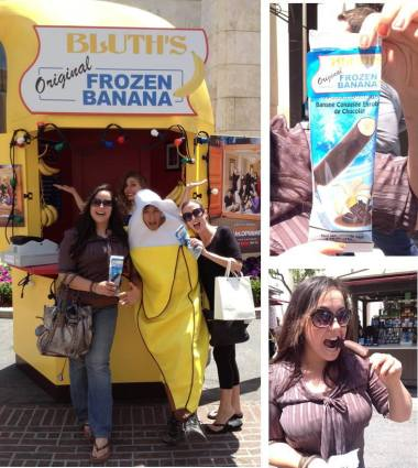 Pop-up Banana Stand at the Grove in L.A.!